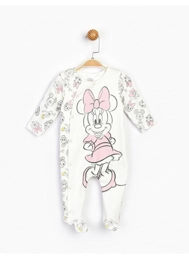 Minnie Mouse  Patikli Bebek Tulum 16081 Beyaz